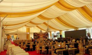 Tenda Dekorasi Bergelombang